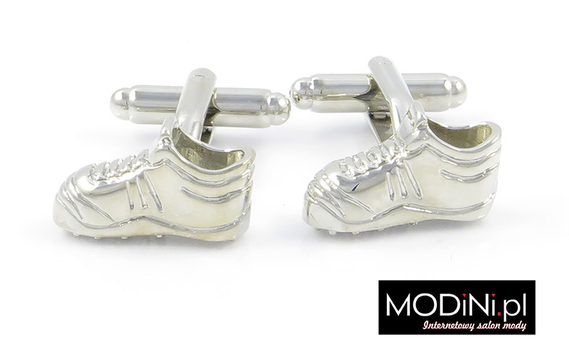 Srebrne spinki do mankietów - buty