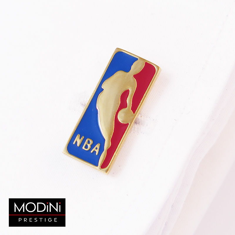 Złote spinki do mankietów - NBA