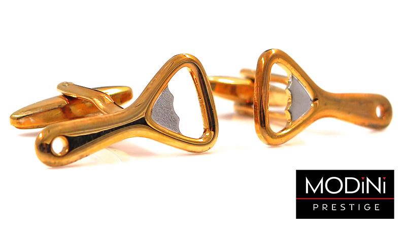 Złote spinki do mankietów - otwieracze