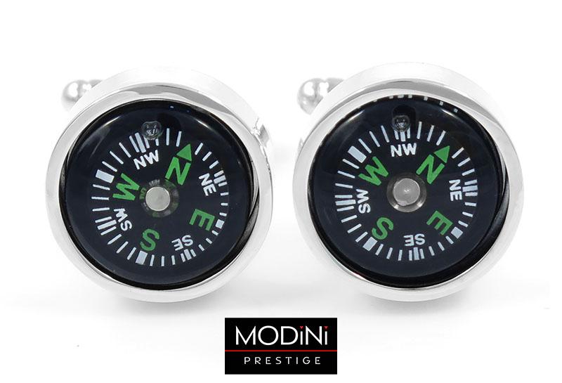 Unikatowe spinki do mankietów - kompasy