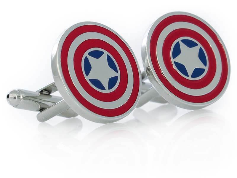 Srebrne spinki do mankietów - Kapitan Ameryka Avengers, U69