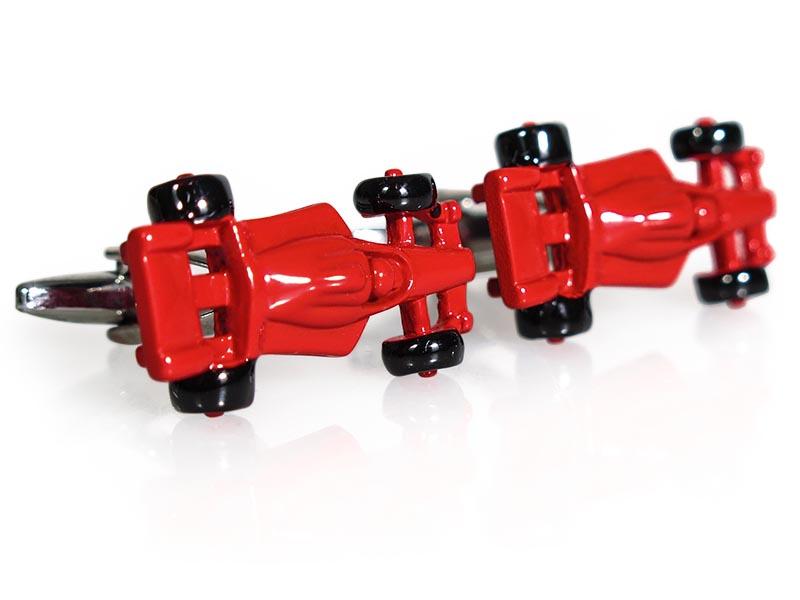Spinki do mankietów - czerwone bolidy, samochody formuły 1 A175
