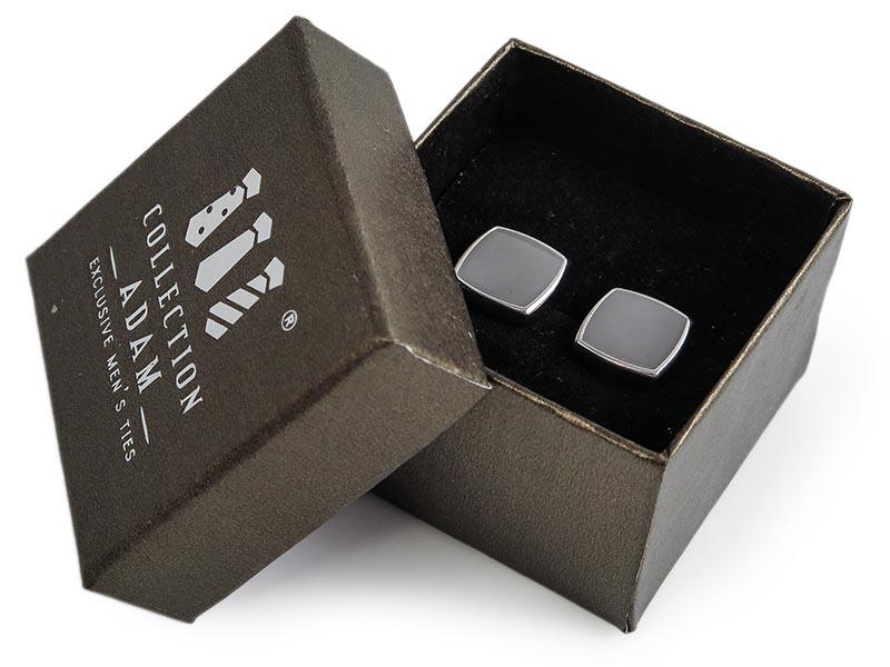 Szare kwadratowe spinki do mankietów A192