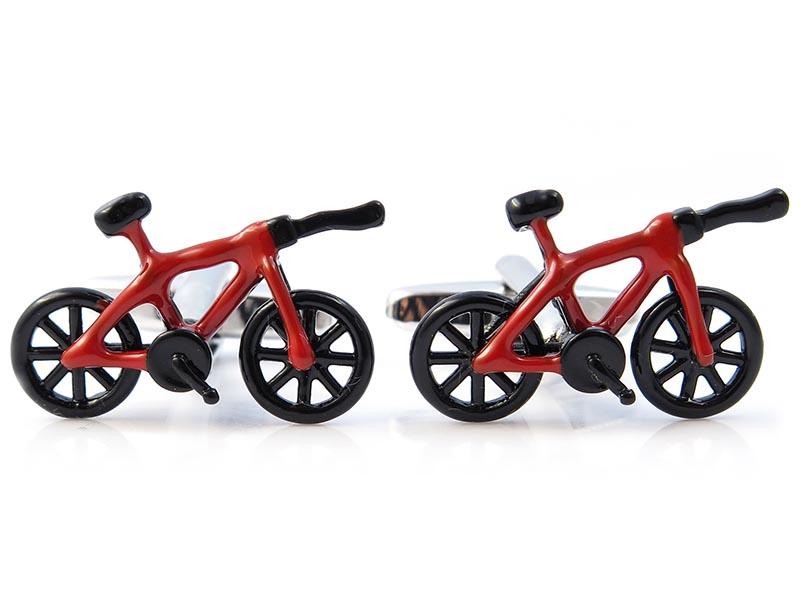 Czarne spinki do mankietów - rowery czasowe N126