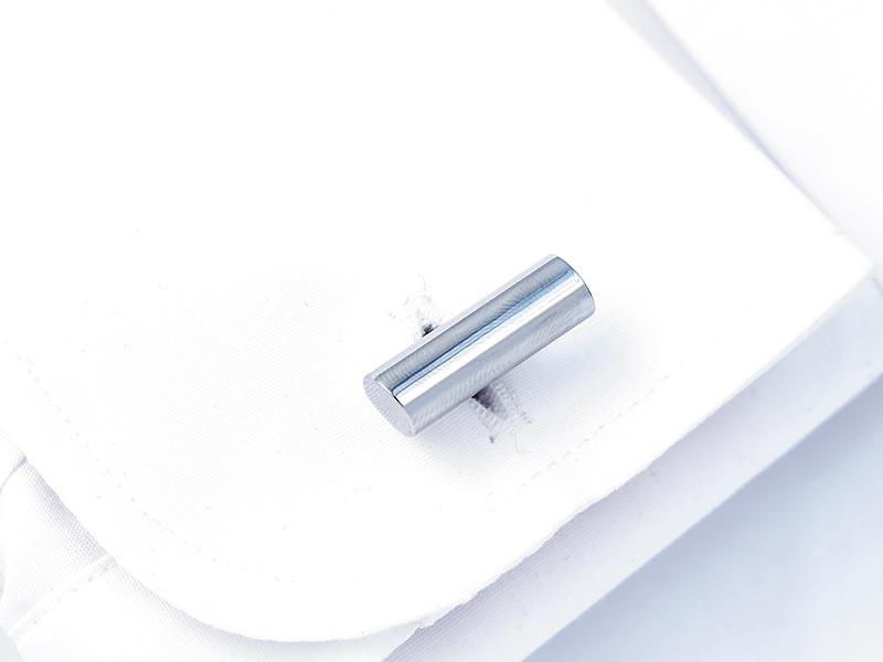 Srebrne spinki do mankietów w kształcie walca N130