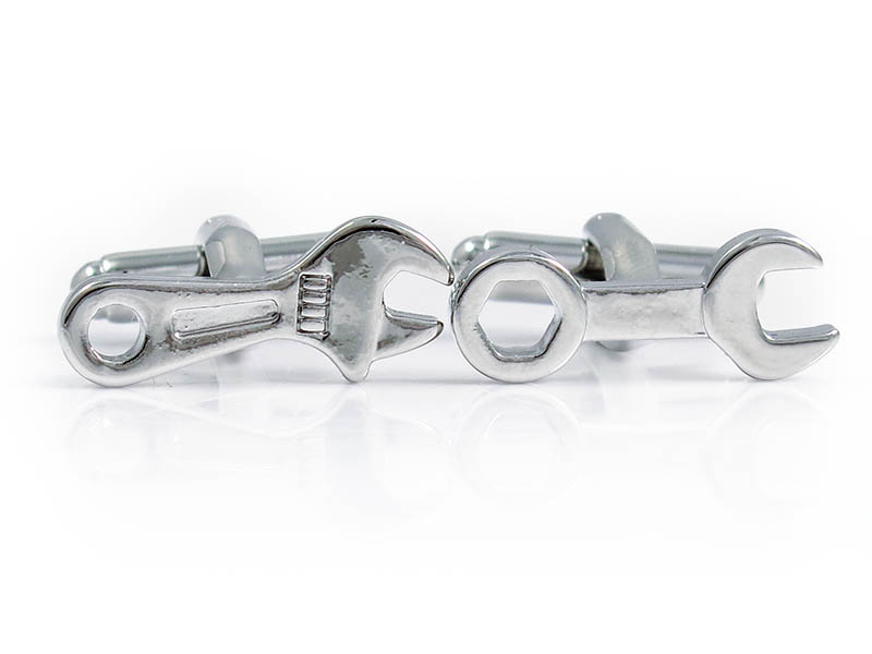 Srebrne spinki do mankietów - narzędzia U228