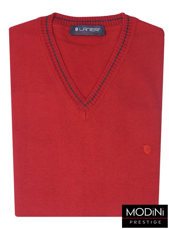 Czerwony sweter męski SW1