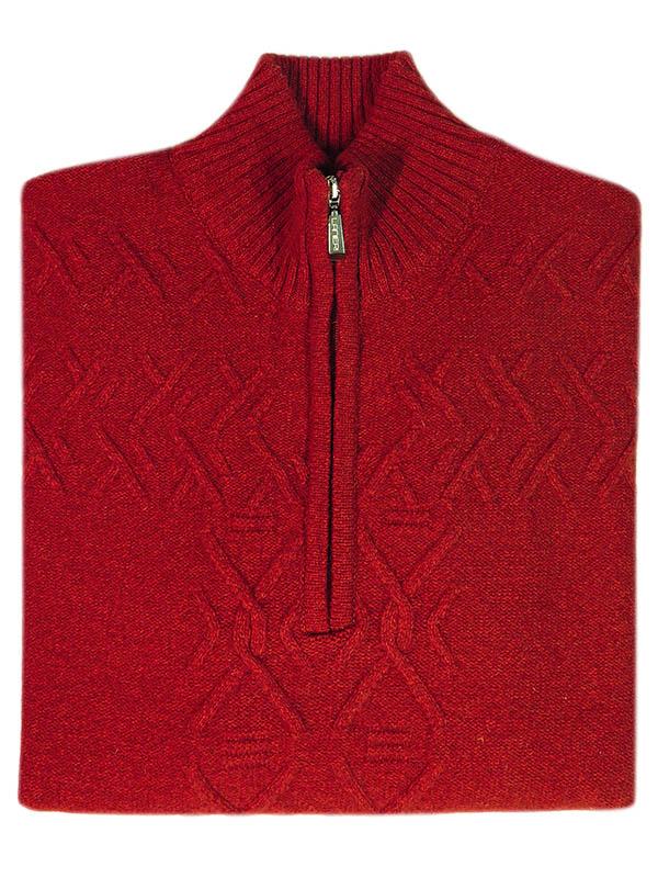 Czerwony sweter męski - blezer SW41