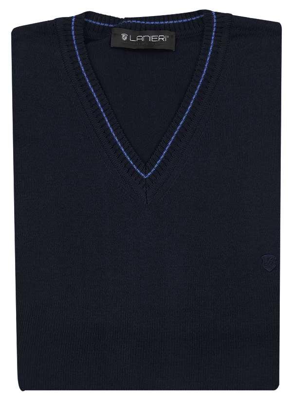 Ciemnogranatowy sweter w szpic SW70