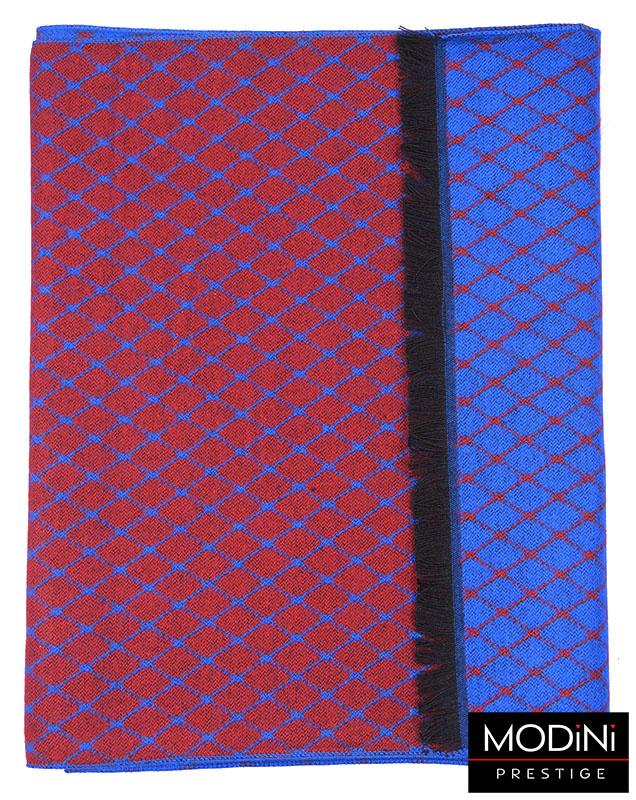 Czerwono-niebieski szal męski I22