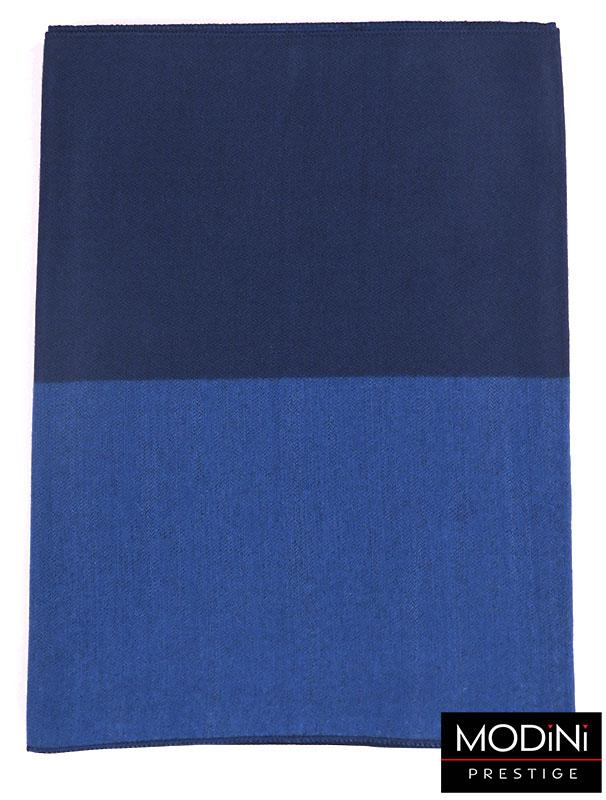 Niebiesko-granatowy szal męski I36