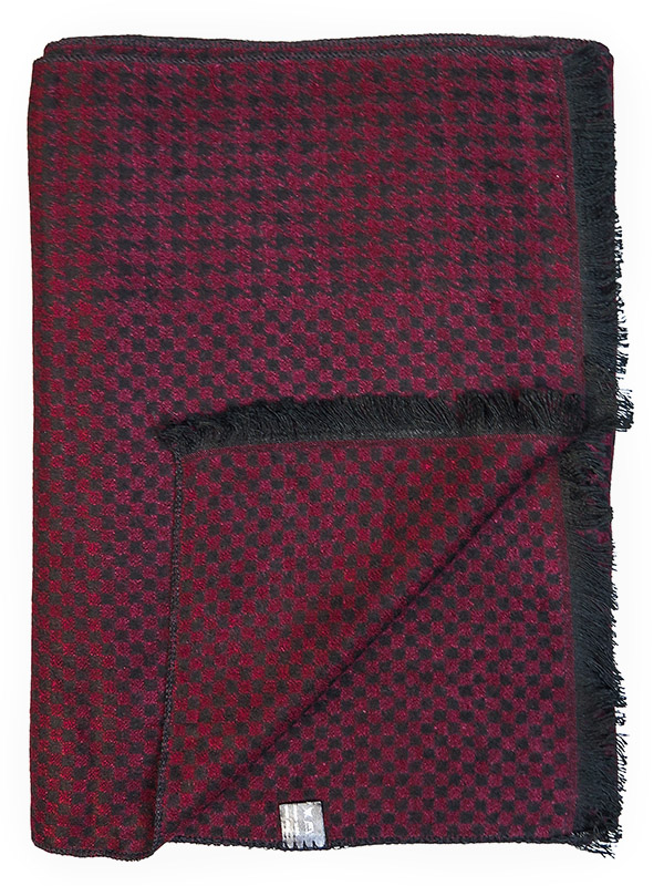 Bordowo-czarny szalik męski R18