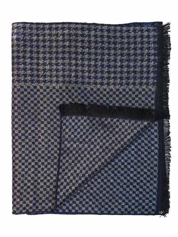 Granatowo-szary szalik męski R19