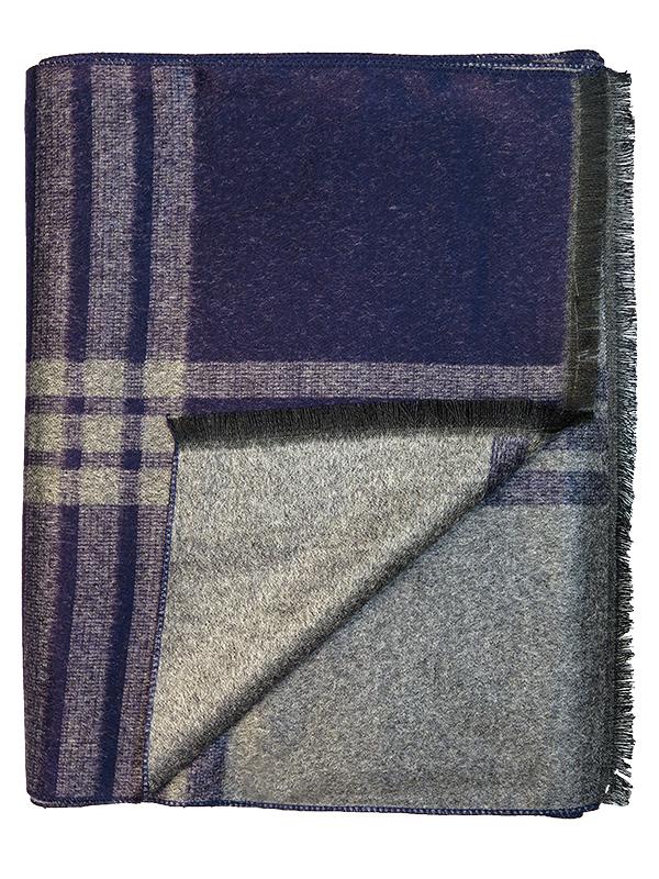Granatowo-szary szalik męski R34