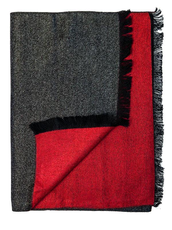 Szaro-czerwony szalik męski R40