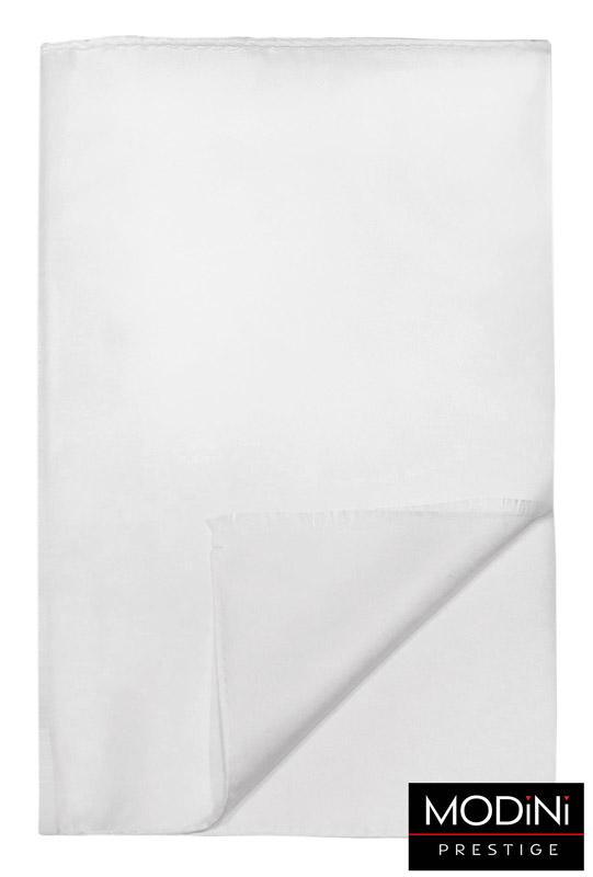 biały jedwabny szalik męski
