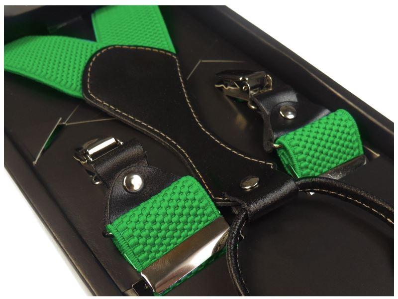 Zielone szelki do spodni