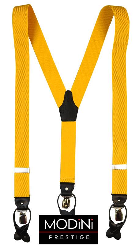 Żółte szelki na guziki