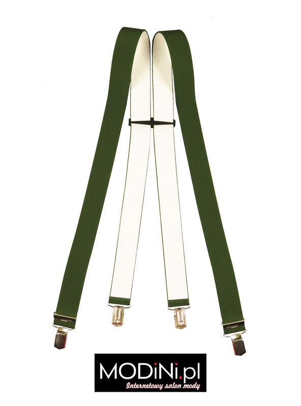 Zielone - oliwkowe szelki do spodni Lloyd