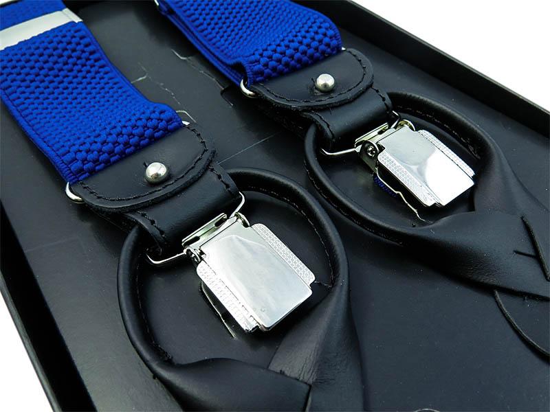 Kobaltowe szelki na guziki G9