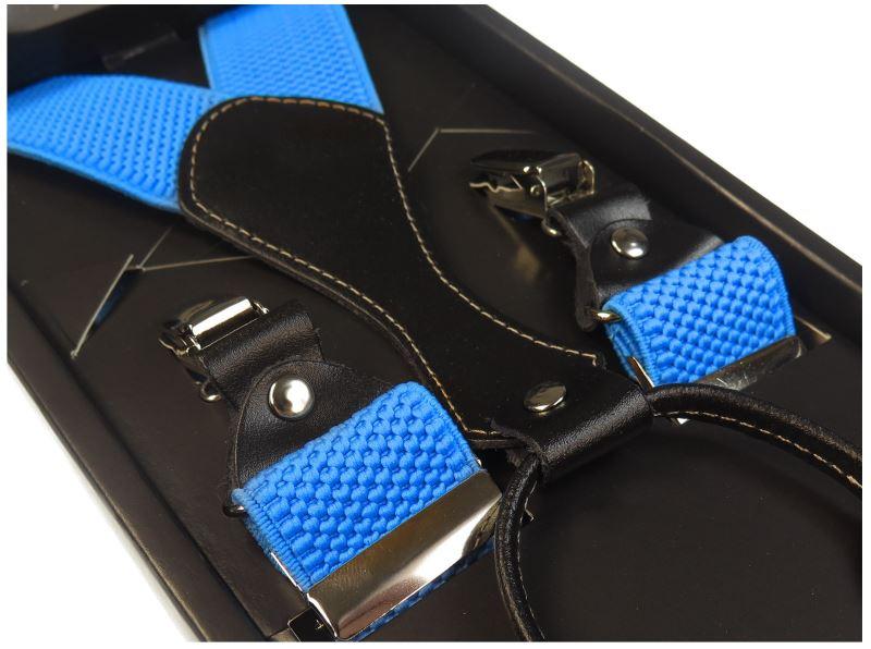 Niebieskie szelki męskie do spodni