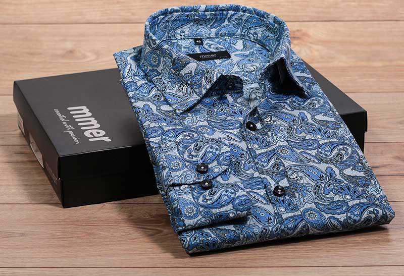 Niebieska koszula w paisley 930