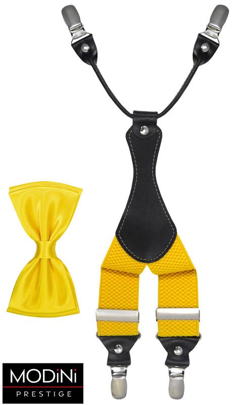 żółty zestaw - szelki i mucha